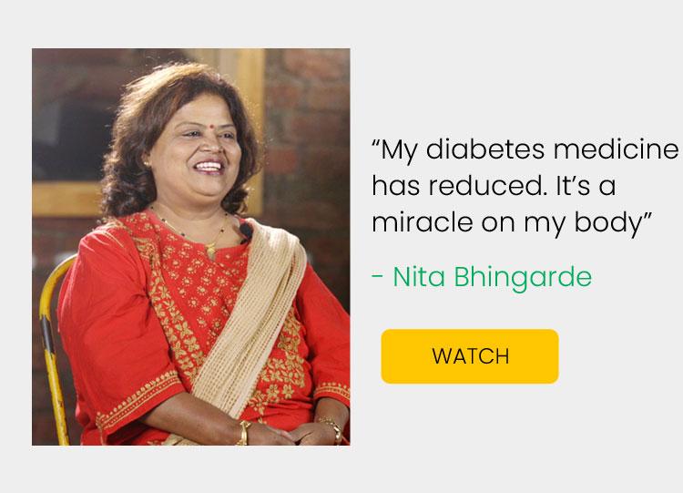 Diabetes Management - Nita Bhingarde Success Stories