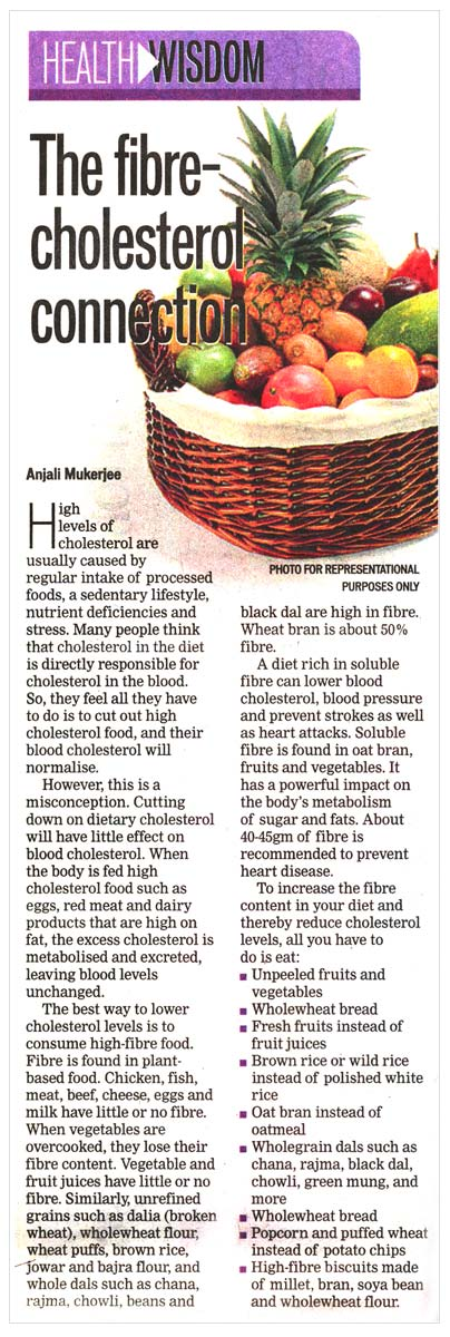 The Fibre-Cholesterol Connection