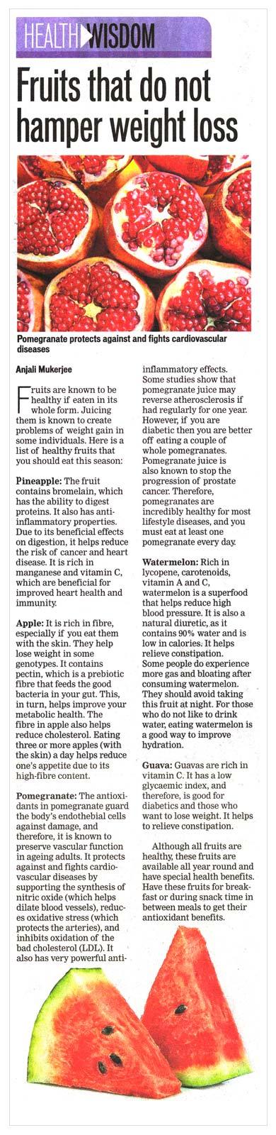 Fruits that do not hamper weight loss