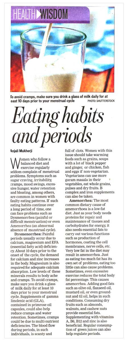 Eating habits and periods