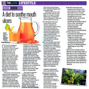 A Diet To Soothe Mouth Ulcers