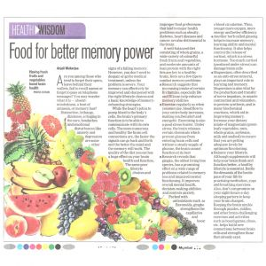Food For Better Memory Power