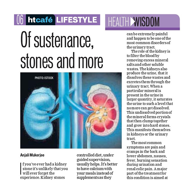 Of sustenance, stones and more