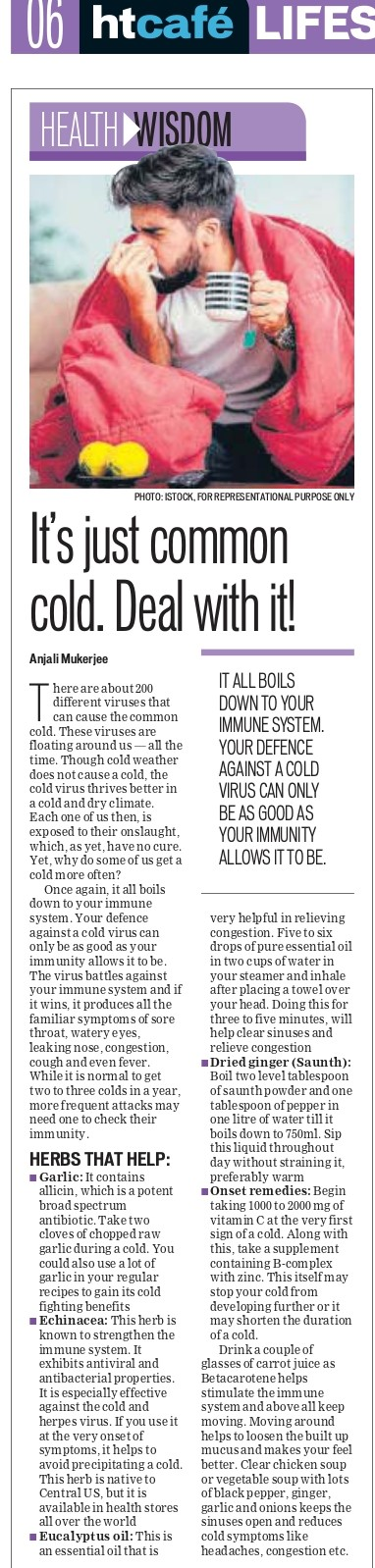 It's just common cold. Deal with it