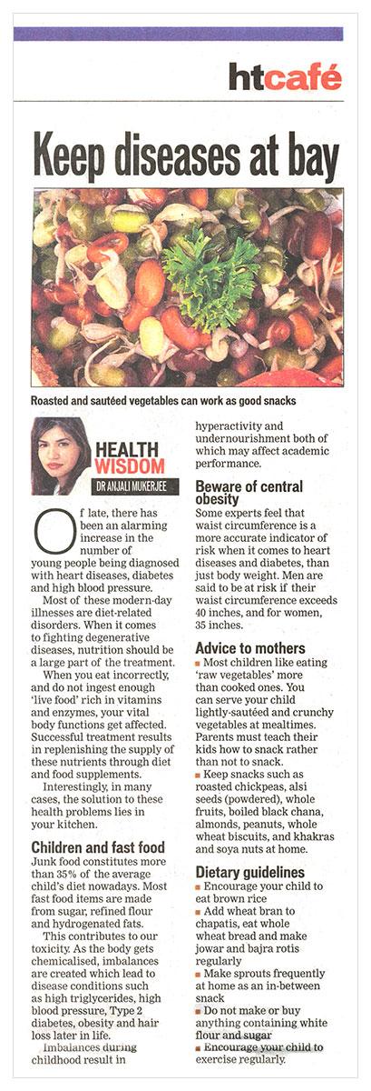 Keep diseases at bay