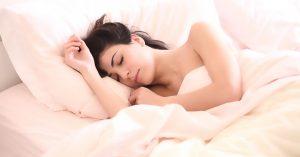 A woman in deep sleep