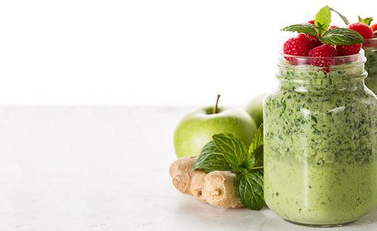 Fruit-basil-smoothie